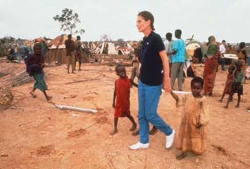Audrey Hepburn in Somalia, 1992. Photo by Tim Rooke/REX/Shutterstock.