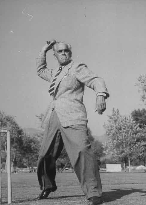 Boris Karloff at the Hollywood Cricket Club.