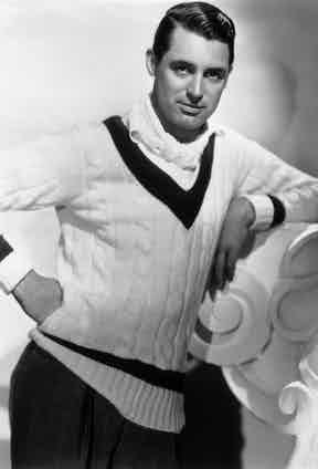 Cary Grant, member of HCC, wearing a cricket sweater. Photo by John Kobal Foundation/Getty Images.