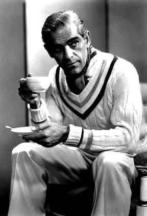 HCC member Boris Karloff in cricket whites.