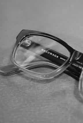 """""""These are just my everyday glasses from Masunaga, I hadn't heard of them before but I got those on the Kings Road and I liked the look of them. I know nothing about Masunaga."""""""