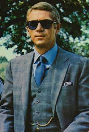 Steve McQueen in The Thomas Crown Affair, 1968. Photo by Everett/REX/Shutterstock.