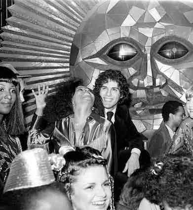 Diana Ross with Ray Caviano at Studio 54 in 1980.