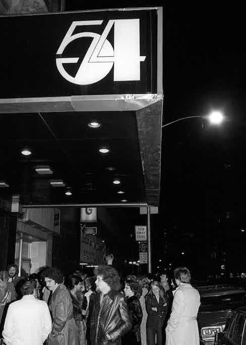 Outside Studio 54 in 1978.
