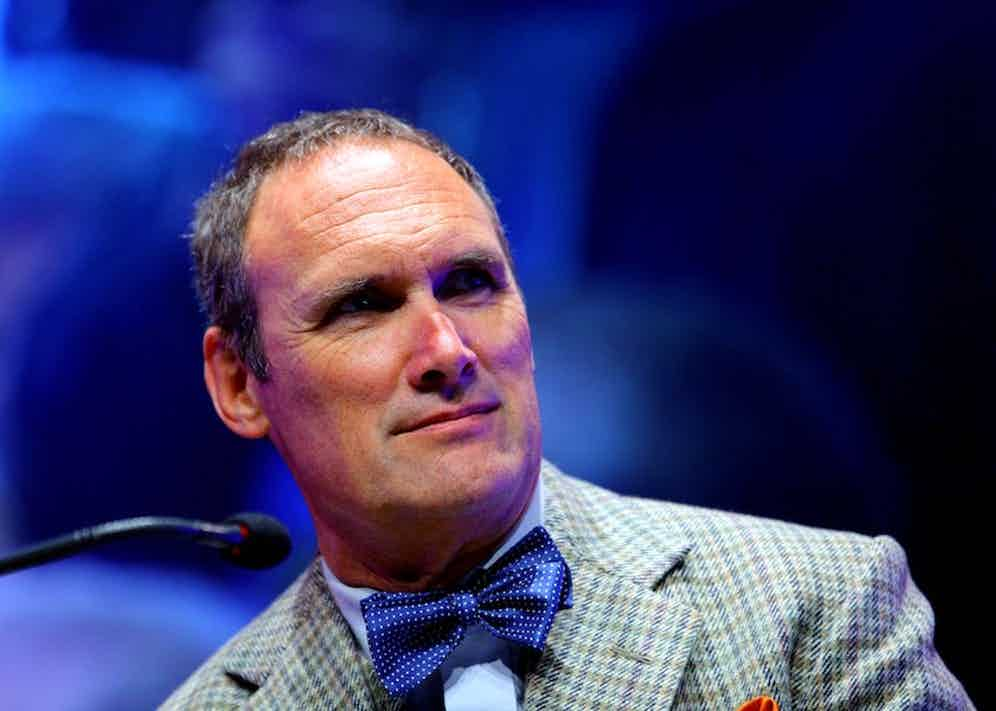 AA Gill at The Telegraph Hay Festival, Hay on Wye, Wales, 2012. Photo by REX/Shutterstock.