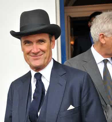 AA Gill attending a memorial service for Alan Whicker, London, 2014. Photo by Alan Davidson/Silverhub/REX/Shutterstock.