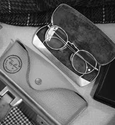 These vintage wire-frame spectacles are another precious heirloom from Clive's grandfather.