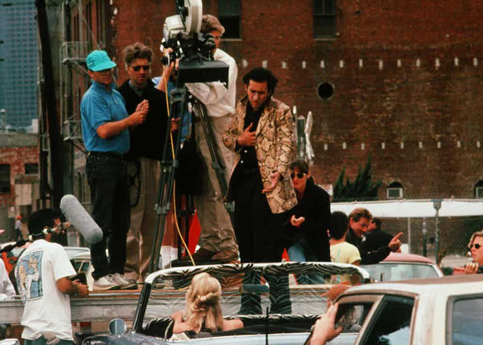 Filming Wild at Heart with Nicholas Cage, 1990. Photo by Propaganda/Polygram/REX/Shutterstock.