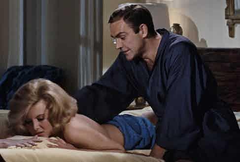 Sean Connery as James Bond in Thunderball, 1965.