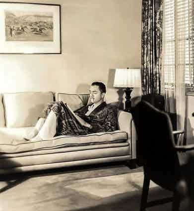 William Powell at MGM Studios.