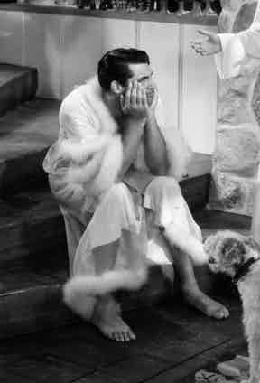 Cary Grant in Bringing Up Baby, 1938.
