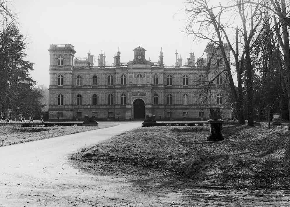 The facade of the Château de Ferrières, 1972.