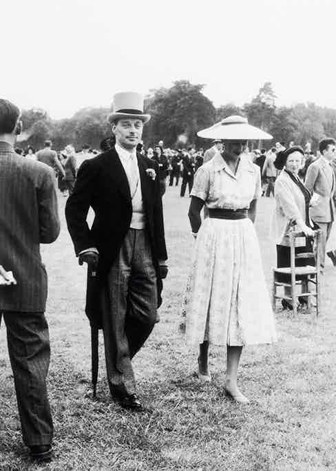At the Longchamp Racecourse in 1956 (Photo via Getty)