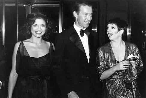 Bianca Jagger, the fashion designer Halston, and Liza Minnelli after a night at Studio 54 in 1979.