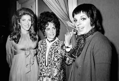 Marie-Hélène with Elizabeth Taylor and Liza Minnelli in Paris, 1971.