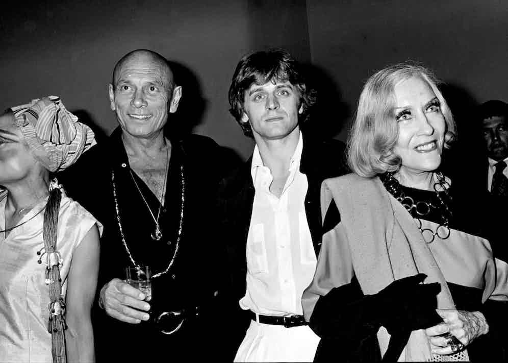 Eartha Kit, Yul Brynner, Mikhail Baryshnikov and Gloria Swanson at Studio 54, circa 1978.