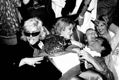 Debbie Harry and Steve Rubell at Studio 54, circa 1980.