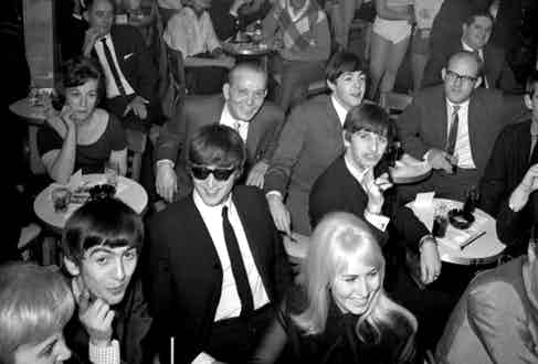 The Beatles at the Peppermint Lounge in 1964.