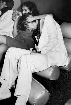 Mick Jagger with Bianca Jagger at her birthday party at Studio 54, 1977.