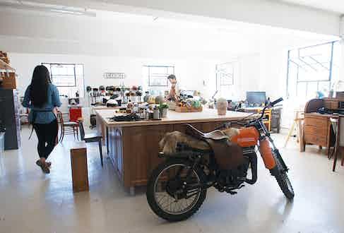 Hedon's workshop is just as Instagram-friendly as its helmets.