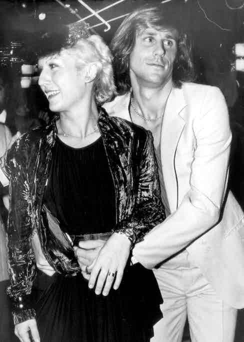 Björn Borg with his wife, Mariana, at Régine's, circa 1979.
