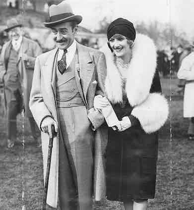 Menjou with actress Kathryn Carver in 1928