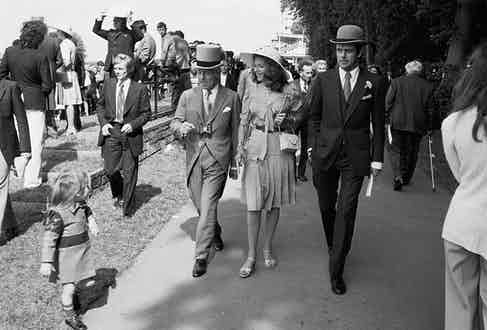 At the races in Chantilly, 1974.