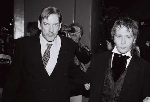 Gary Oldman and Donald Sutherland at the JFK Premiere, December 17, 1991 Photos by Berliner Studio ® Berliner Studio/BEImages and BEI/BEI/Shutterstock