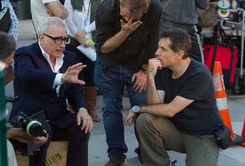 Scorsese on the set of Wolf of Wall Street, 2013.