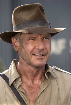 Harrison Ford in Indiana Jones and The Kingdom Of The Crystal Skull, 2008. Photo by Lucasfilm/Paramount Pictures/REX/Shutterstock.