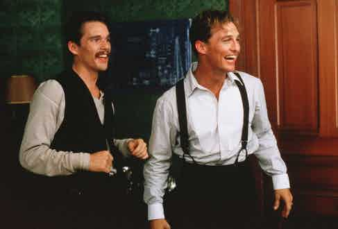 Ethan Hawke and Matthew McConaughey in The Newton Boys, 1998. Photo by Deana Newcomb/20th Century F/REX/Shutterstock.