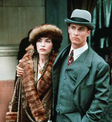 Julianna Margulies and Matthew McConaughey in The Newton Boys, 1998. Photo by Deana Newcomb/20th Century Fox/REX/Shutterstock.