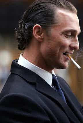 Matthew McConaughey on the Set of Two for the Money - November 16, 2004. Photo by James Devaney/WireImage.