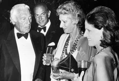Giovanni Agnelli, Oscar de la Renta, Pier Agnelli and Annette Reed. Photo by Ron Galella/WireImage.