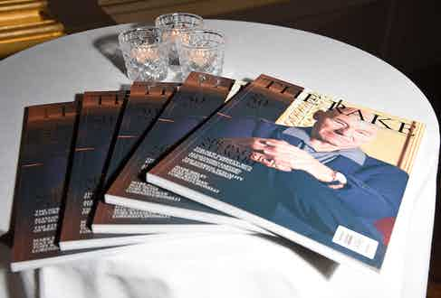 The 50th issue featuring Sir Patrick Stewart, shot in Hotel Café Royal.