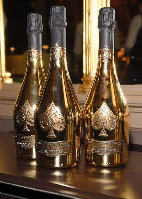 Armand de Brignac champagne served at The Rake's 50th issue party at Hotel Café Royal on February 10, 2017 in London, England.
