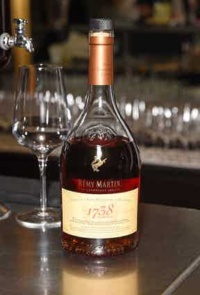 Remy Martin cognac served at The Rake's 50th issue party at Hotel Café Royal on February 10, 2017 in London, England.