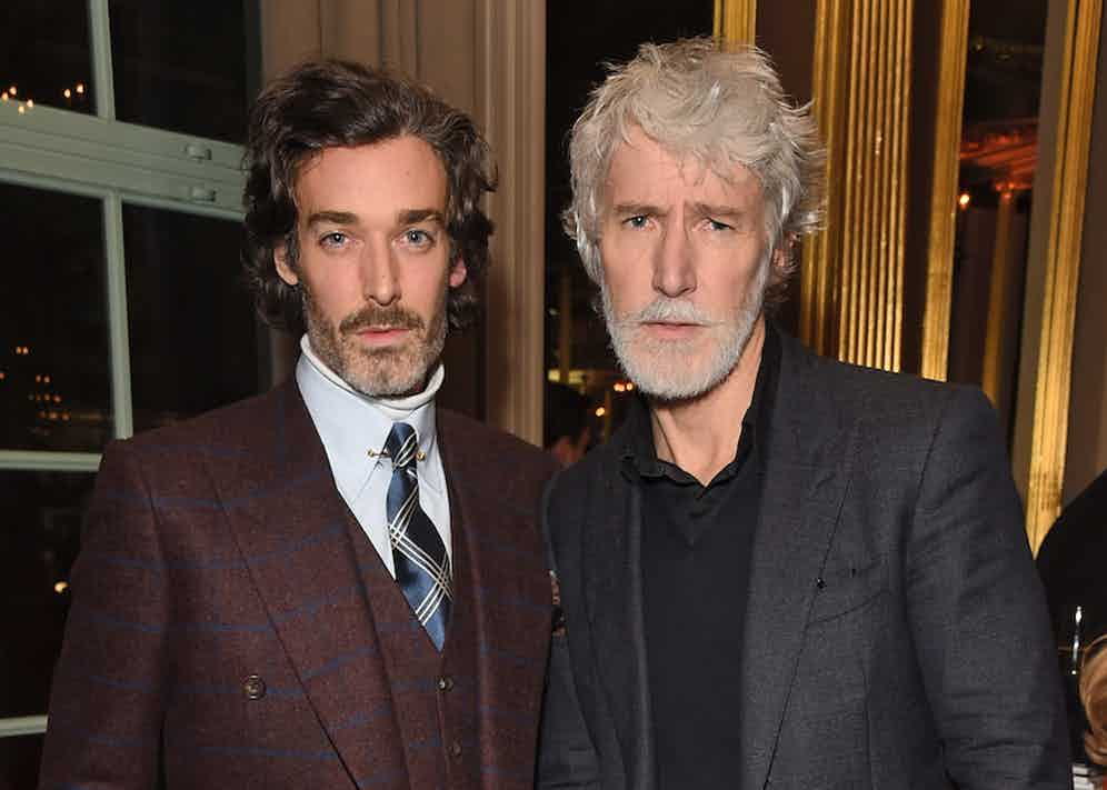 Richard Biedul and Aiden Brady at The Rake's 50th issue party at Hotel Café Royal on February 10, 2017 in London, England.