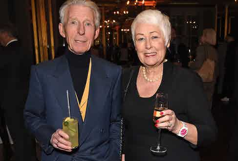 Edward and Joan Sexton at The Rake's 50th issue party at Hotel Café Royal on February 10, 2017 in London, England.