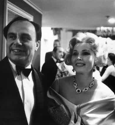 Actress Zsa Zsa Gabor, a guest at Prince Aly Khan's party. Photo by Alfred Eisenstaedt/Pix Inc./The LIFE Picture Collection/Getty Images.