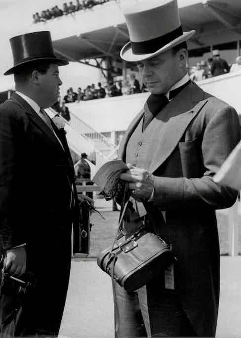 Prince Aly Khan Attending The Derby At Epsom Racecourse. Photo by ANL/REX/Shutterstock.