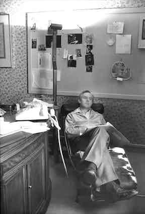 John le Carre relaxing. Photo by Monty Fresco/ANL/REX/Shutterstock.