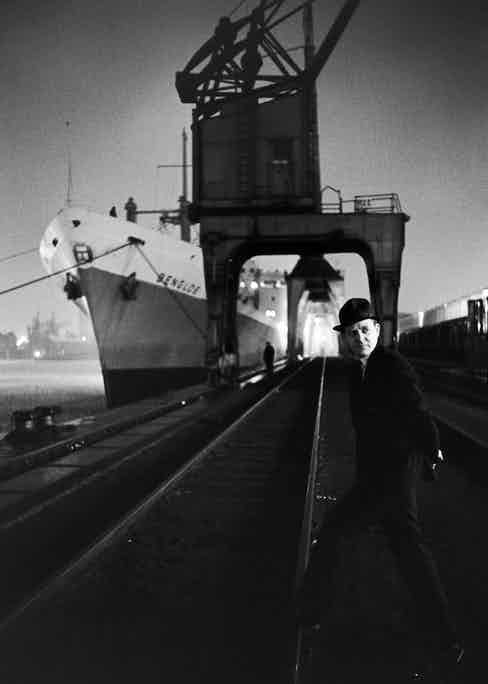 John le Carre, down at the docks. Photo by Ralph Crane/The LIFE Picture Collection/Getty Images.
