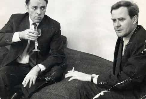 Actor Richard Burton With John le Carre. Photo by Daily Mail/REX/Shutterstock.