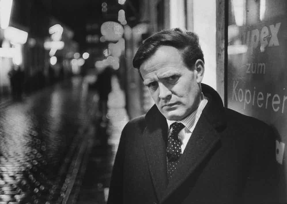 John le Carre looking suitably furtive. Photo by Ralph Crane/The LIFE Picture Collection/Getty Images.