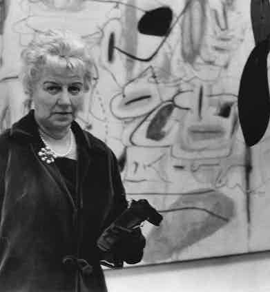 Peggy Guggenheim at the Tate Gallery,1965. Photo by ANL/REX/Shutterstock.