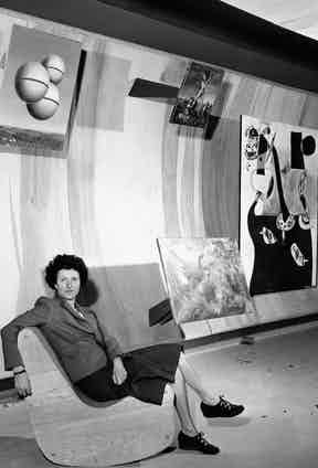 Peggy Guggenheim at the Museum of Modern Art in New York City.  Photo by anonymous/AP/REX/Shutterstock.