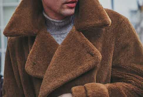 The deep-pile alpaca and full-lining mean the coat is extremely insulating. Photograph by James Munro.
