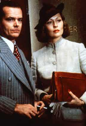 Jack Nicholson and Faye Dunaway in Chinatown, 1974. Photo by Paramount/REX/Shutterstock.