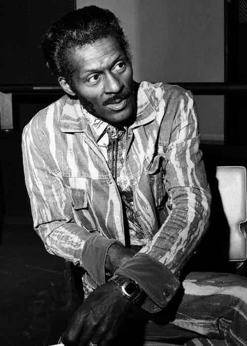 Chuck Berry, 12th May 1976.